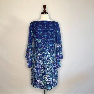 Tahari Bell Sleeve Dress, Small